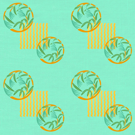 The bamboo grass is at the gate fabric by su_g on Spoonflower - custom fabric