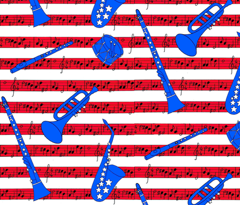 American flag veterans fabric by zandloopster on Spoonflower - custom fabric