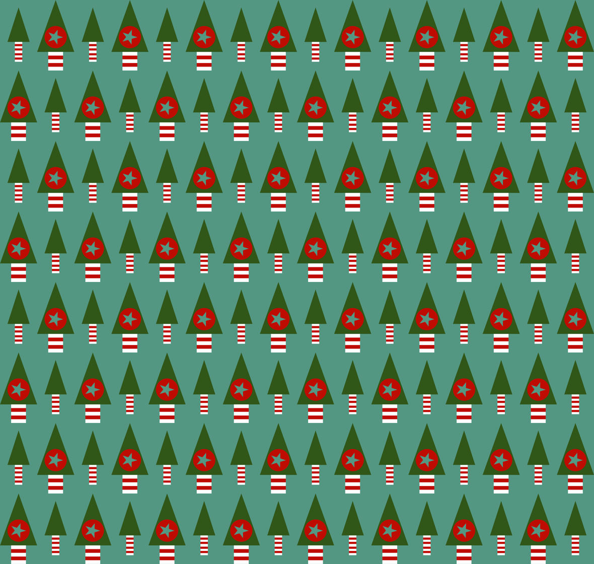Retro Christmas Trees fabric by giddystuff on Spoonflower - custom fabric