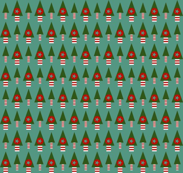 Retro Christmas Trees