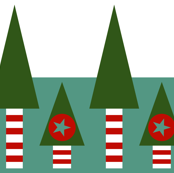 Retro Christmas Landscape
