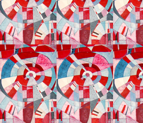 Mia in Pimlico fabric by abstracthands on Spoonflower - custom fabric