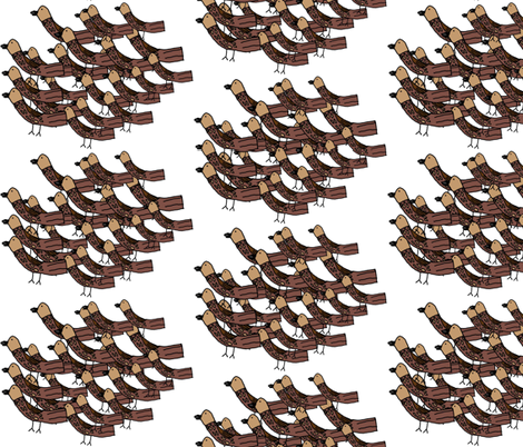 flock-of-finches-with-seeds fabric by heartfullofbirds on Spoonflower - custom fabric
