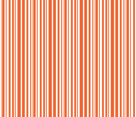 orange stripes fabric by beary_organics on Spoonflower - custom fabric