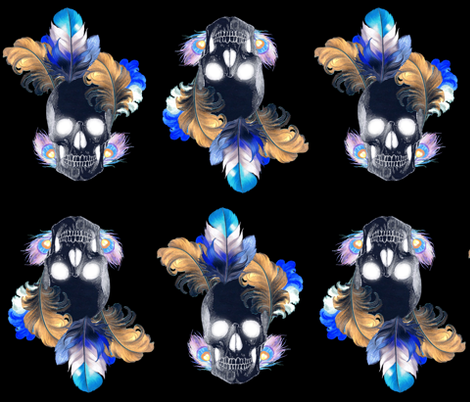 skullpattern fabric by heathermilo on Spoonflower - custom fabric