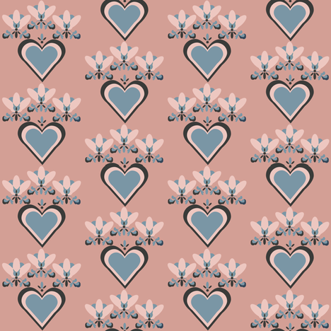 herzblattmintrose fabric by lilliblomma on Spoonflower - custom fabric