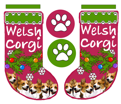 Pembroke welsh corgi cut and sew stocking pattern