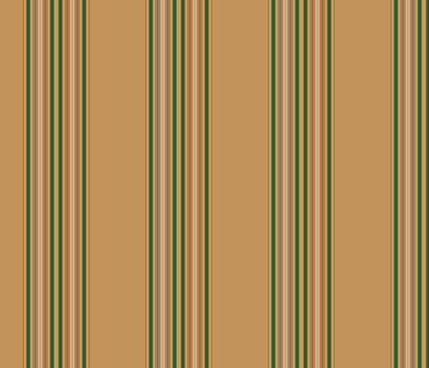 Tan and Green Awning Stripe © Gingezel™ 2012 fabric by gingezel on Spoonflower - custom fabric