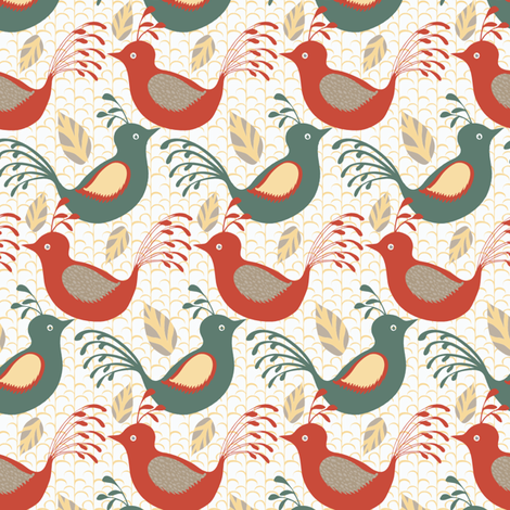 Little Birds fabric by kezia on Spoonflower - custom fabric