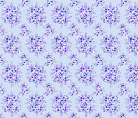 lavender floral fabric by atomic_bloom on Spoonflower - custom fabric