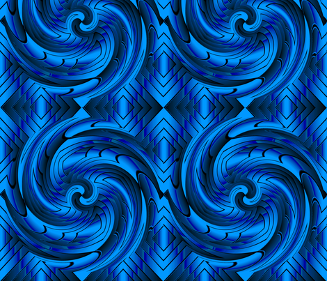 blue_vortex4 fabric by esthers on Spoonflower - custom fabric