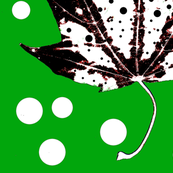 Polka Dotty Leaves (Green/White/Black)