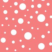 salmon polka dot