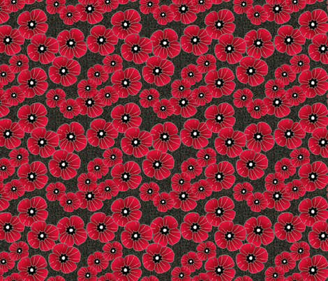 Lest we forget poppies fabric by lucybaribeau on Spoonflower - custom fabric