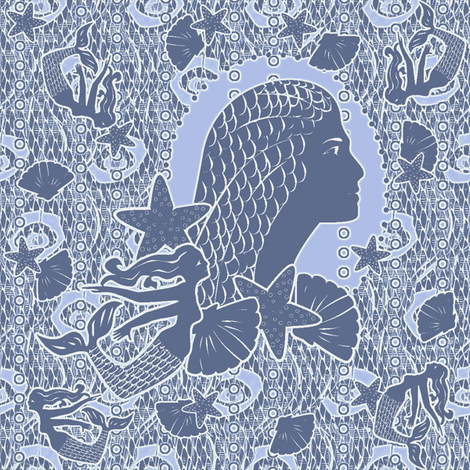 Princess of the Pacific Ocean fabric by glimmericks on Spoonflower - custom fabric