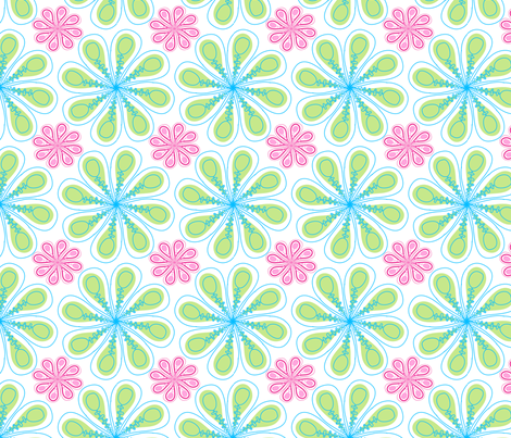 Christmas Fabric Pastel fabric by mainsail_studio on Spoonflower - custom fabric