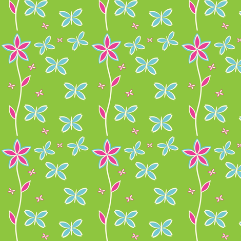 pink Butterfly-ch-ch-ch fabric by wendyg on Spoonflower - custom fabric