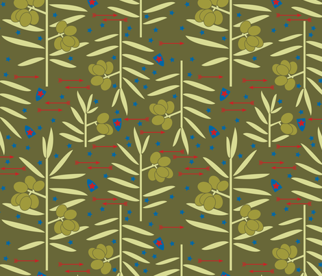 Olives & Arrows fabric by natasha_k_ on Spoonflower - custom fabric