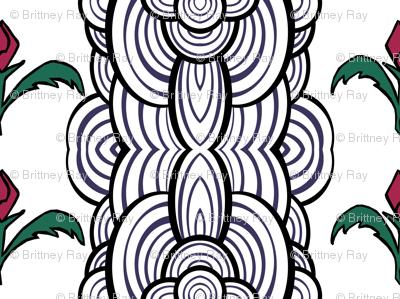 Funky Floral Stripe