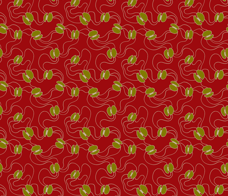 Oh Beans! red fabric by spugnardidesign on Spoonflower - custom fabric