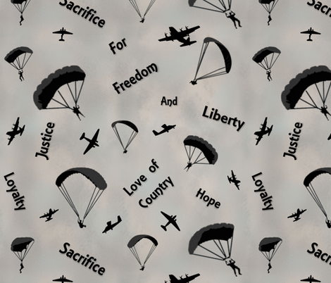 Thanks to Those Who Serve fabric by jabiroo on Spoonflower - custom fabric