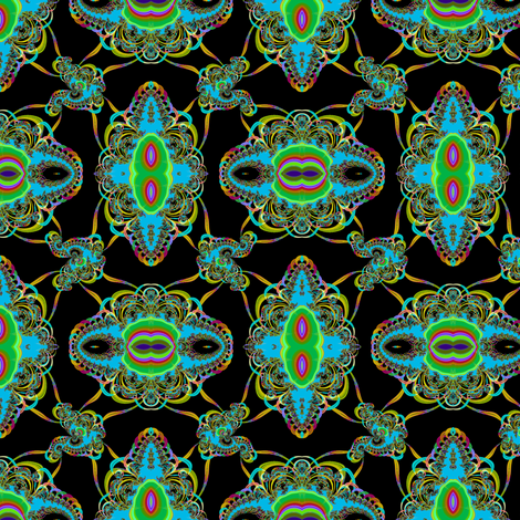 black light tangle fabric by eclectic_house on Spoonflower - custom fabric