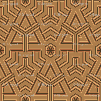 Tan Mexican Style Geometric © Gingezel™ 2012