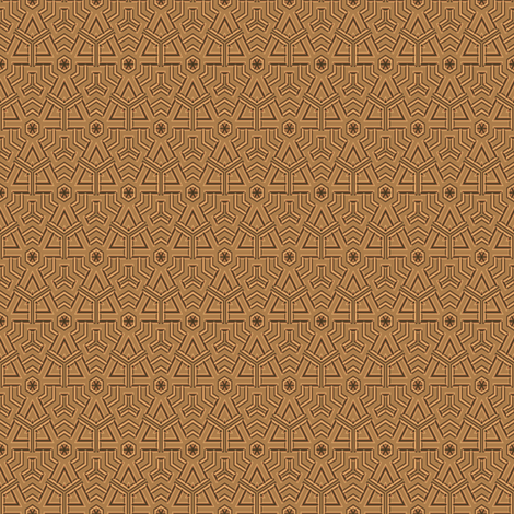 Tan Mexican Style Geometric © Gingezel™ 2012 fabric by gingezel on Spoonflower - custom fabric
