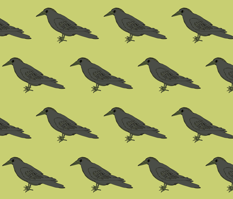 crow fabric by luluhoo on Spoonflower - custom fabric