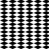Black and White Diamond Stripe