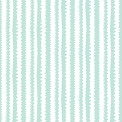 Abstract stripes -- mint and white