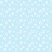 Ditsy dots and spots on pale blue