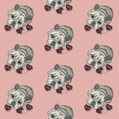 french bulldog fabric and wall paperI LOVE YOU