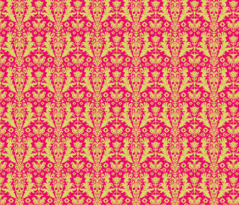 Paisley Skull fabric by gabdalyn on Spoonflower - custom fabric