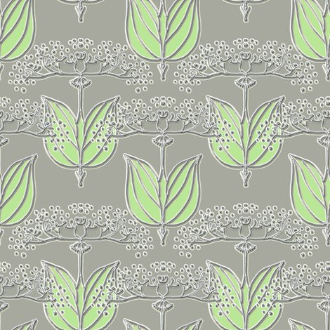 Rrrrqueen_anne_faux_metallic_green_leaves_shop_preview