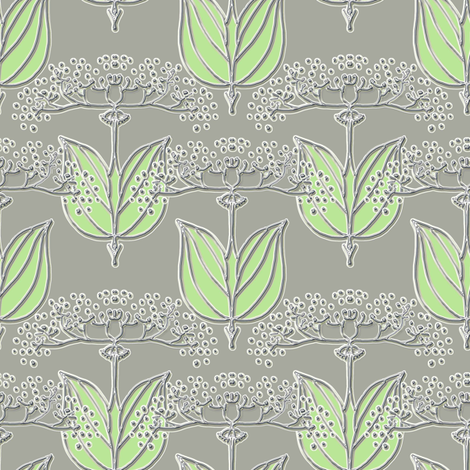 Queen Anne pewter fabric by joanmclemore on Spoonflower - custom fabric
