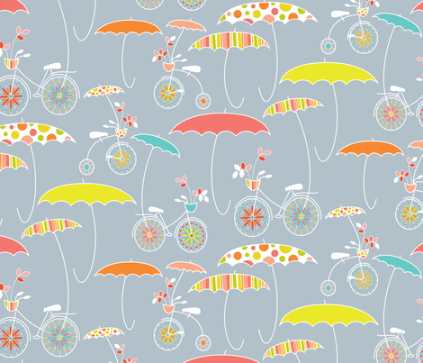 Whatever the Weather - lt grey fabric by kayajoy on Spoonflower - custom fabric