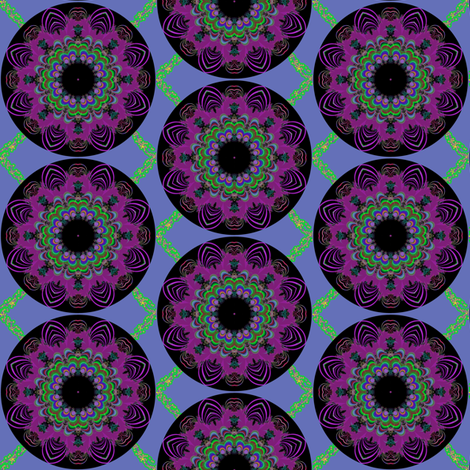 Black Light trellis fabric by eclectic_house on Spoonflower - custom fabric