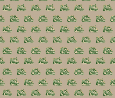 Vintage Frog  fabric by icarpediem_ on Spoonflower - custom fabric