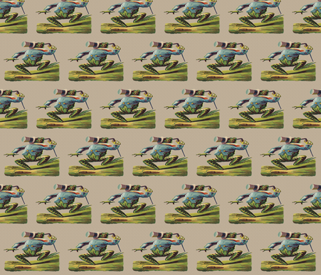 Mr. Fancy Frog  fabric by icarpediem_ on Spoonflower - custom fabric