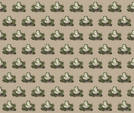 Fat Frog  fabric by icarpediem_ on Spoonflower - custom fabric