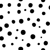 Not quite polka dots in black on white