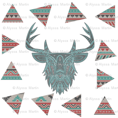 Vintage Tribal Deer