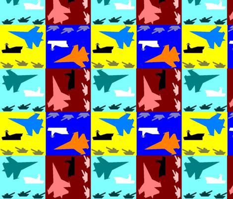 Air Land & Sea fabric by annalisa222 on Spoonflower - custom fabric