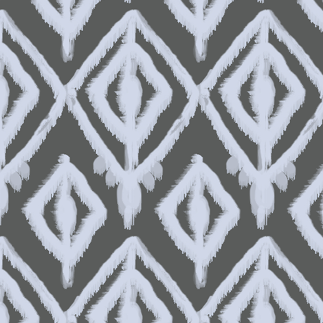 beach house ikat fabric by fable_design on Spoonflower - custom fabric
