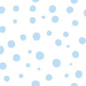 Not quite polka dots in pale blue on white