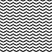 Fish Scale Chevron II -- in black and white