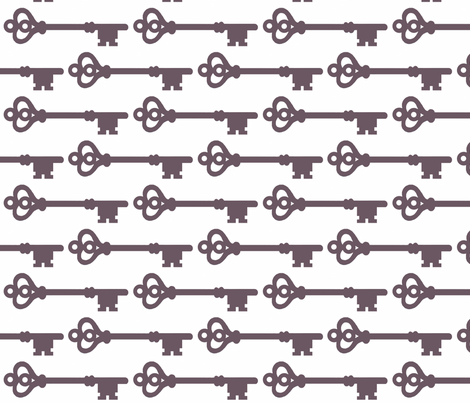 Skeleton Keys fabric by dorolimited on Spoonflower - custom fabric