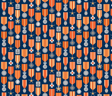 Military medals fabric by mariao on Spoonflower - custom fabric