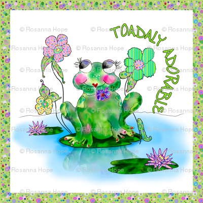 Francine La Froggie by Rosanna Hope for Babybonbons